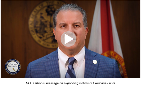 CFO Jimmy Patronis video message on supporting Hurricane Laura victims