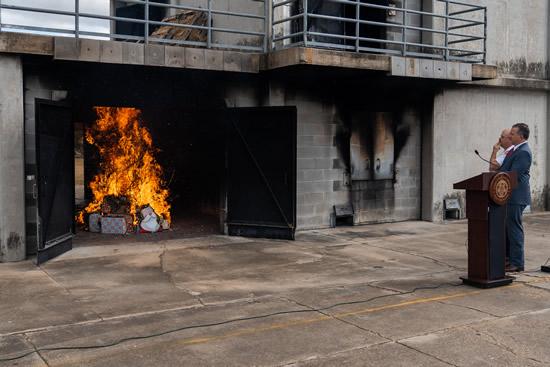 2020 Xmas tree burn
