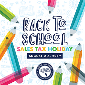 Back to School Sales Tax Holiday 2019