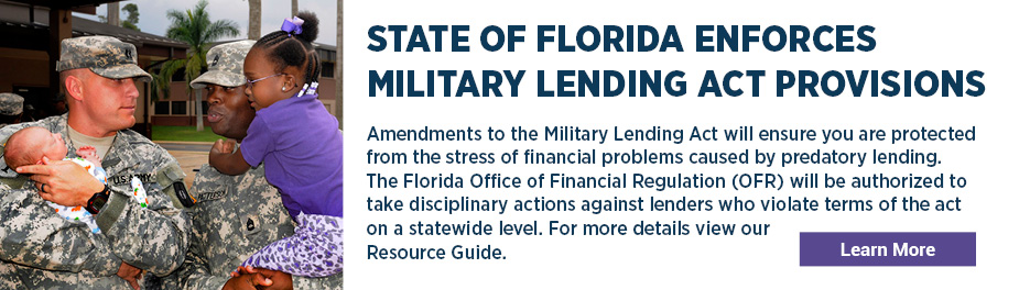 State of Florida enforces Military Lending Act