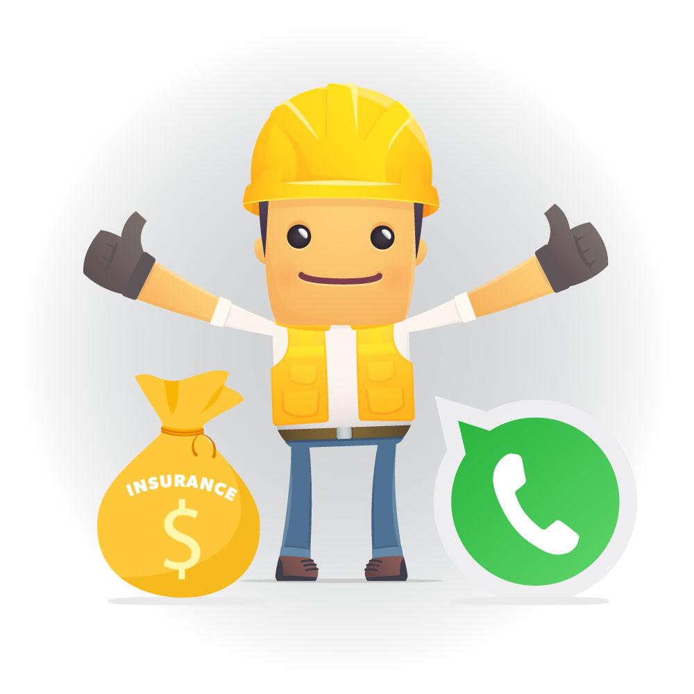 Contratista confirma el pago del seguro y promesa de comunicación