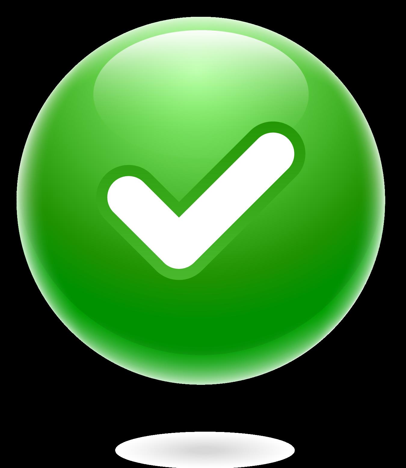 marca de verificación - sí