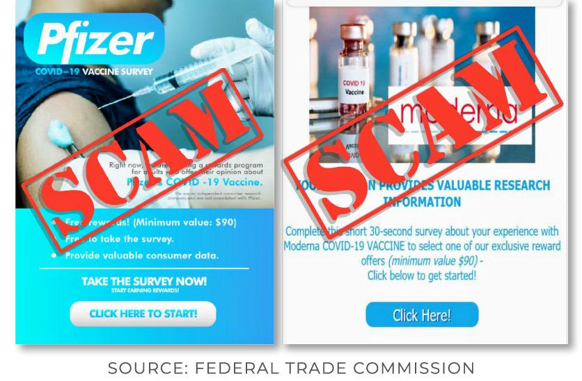 Ejemplos de Mensajes de Texto y Emails de Encuestas sobre la Vacuna contra el COVID-19