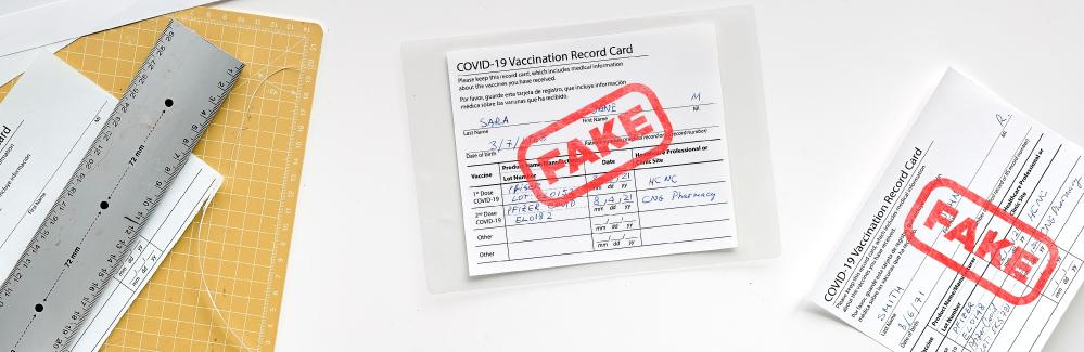 Estafa con Tarjetas de Vacunación Falsas