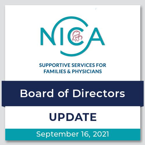 Email de Actualización de la Junta Directiva de la NICA - 09.16.2021